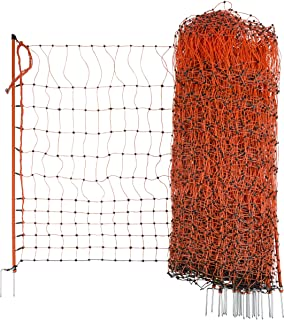 Geflügelzaun Geflügelnetz  Volieren  0,85 m x 25 m  grün  Maschenweite 5 cm