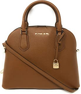 Michael Kors Adele Large Dome Leather Satchel Handbag