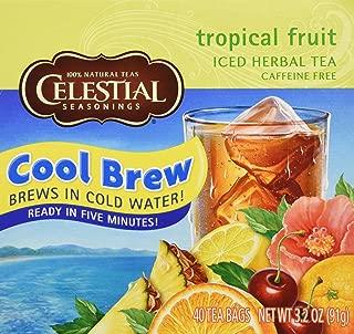 Celestial Seasonings Tropical Fruit Cool Brew Herbal Tea Bags, 40 ct 3.2 oz