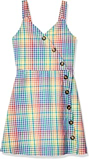 Girls' Big Button Front Day Dress
