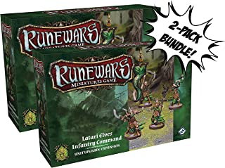 x2 Runewars Miniatures Game Latari Elves Infantry Command Unit Upgrade Expansion Bundle Sold from SCATS