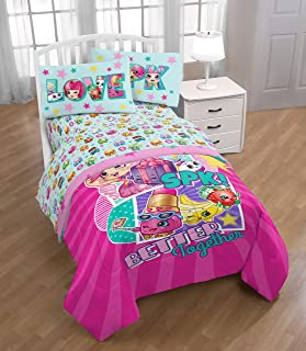 Shopkins SPK 'Better Together' Twin/Full Reversible Comforter w/Sham and 3 Piece Twin Sheet Set