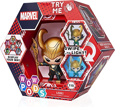 WOW! PODS Marvel Avengers - Loki Collectable Light-Up Figures