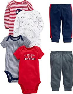 757a83a7 Connie's Kids Children's Clothing · See more · Simple Joys by Carter's Baby  Boys' 6-Piece Bodysuits (Short and Long Sleeve