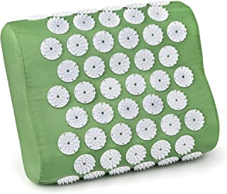Kendal Acupressure Massage Mat and Pillow Set for Chronic Neck Back Head Pain Relief (d-Pillow)