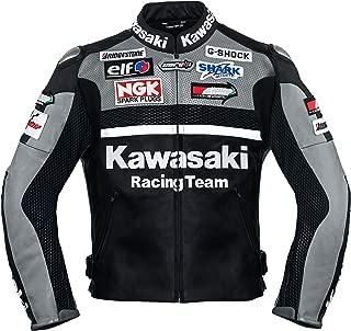 Kawasaki Gray Racing Team Leather Jacket (without a hump) ((L (EU52-54)))