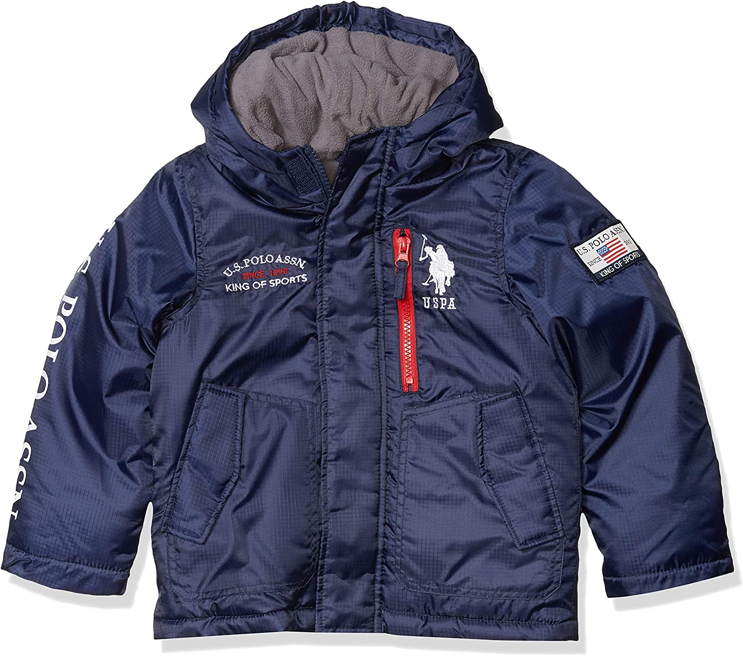 US Polo Association Toddler Boys Fashion Outerwear Jacket UB43-Vest-Classic Navy 4T