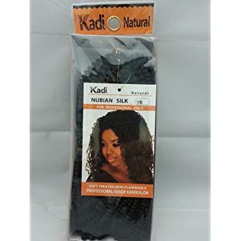 Kadi Natural Braiding Style, Hair Extension, Professional Grade Kanekalon (1B - Off Black, NUBIAN SILK)