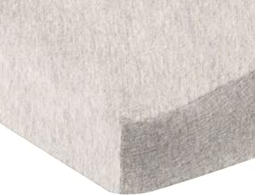 AmazonBasics Heather Jersey Fitted Bedsheet for Cribs, Oatmeal (Oatmeal)