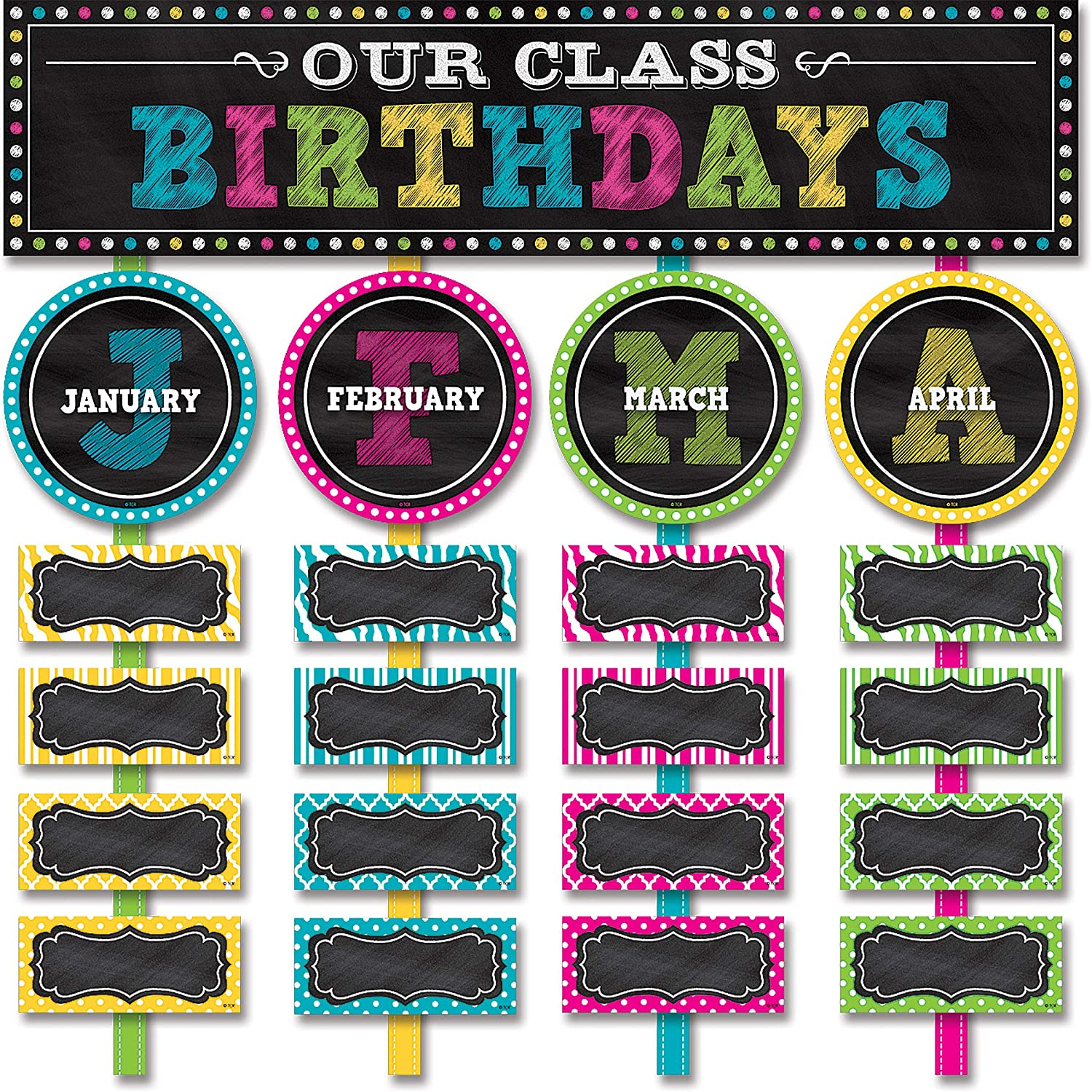 Teacher Created Resources Chalkboard Brights Our Birthdays Special Campaign National products Class