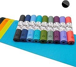 Aisoco Tappetino per Pilates Yoga Combinazione di Gomma Naturale e TPE, Recentemente migliorata, Antiscivolo, sostenibile, Morbida, Resistente, 4 mm di Spessore - Custodia da Trasporto