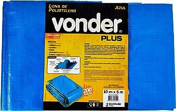 Lona Reforçada De Polietileno Vonder Azul 10 M X 5 M