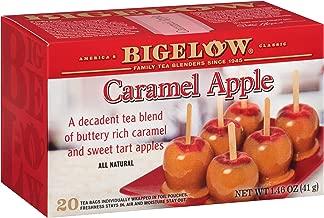 Bigelow Caramel Apple Tea, 20 Teabags (Pack of 6), 120 Tea Bags Total. Caffeinated Individual Black Tea Bags, for Hot Tea or Iced Tea, Drink Plain or Sweetened with Honey or Sugar