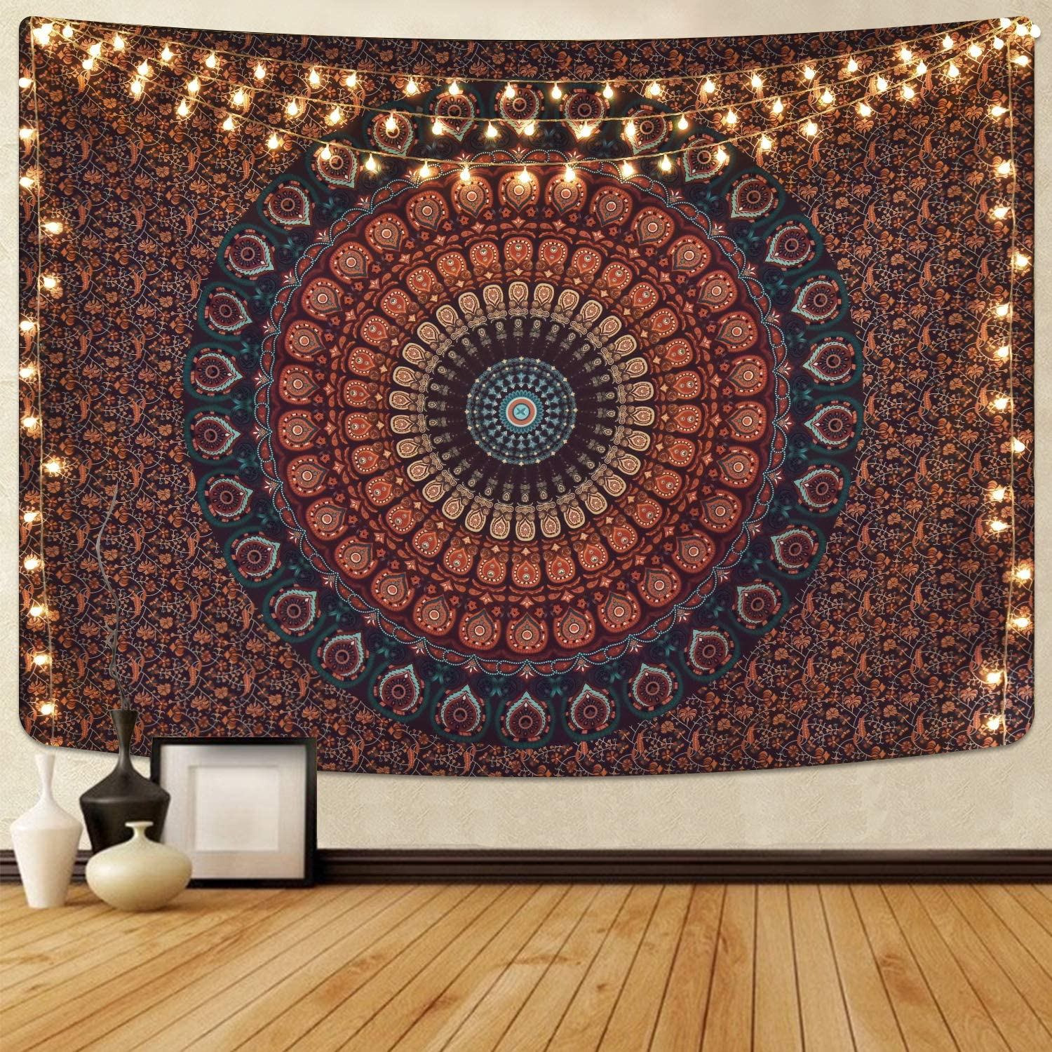 NEW before selling Bohemian Seattle Mall Mandala Tapestry Hippie Psychedelic Tapestries Peacock