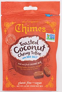 Chimes Toasted Coconut Chewy Toffee with Sea Salt, 2.80 Ounce (Pack of 12)