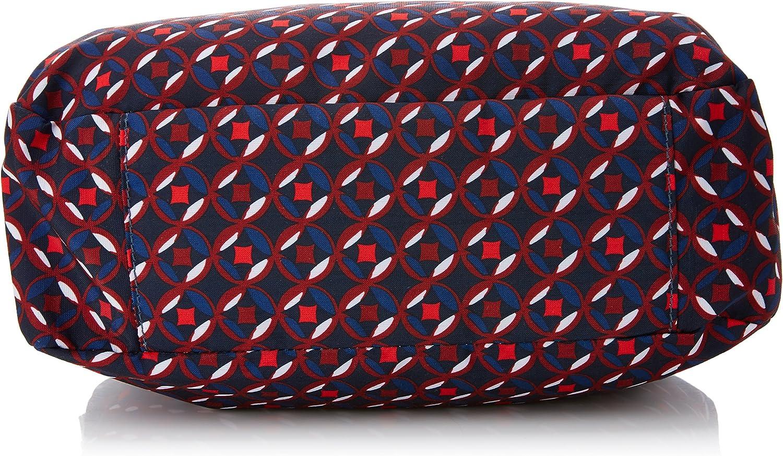 Kipling Caralisa Bp, Sac bandoulière Multicolore (Red Tile Print)