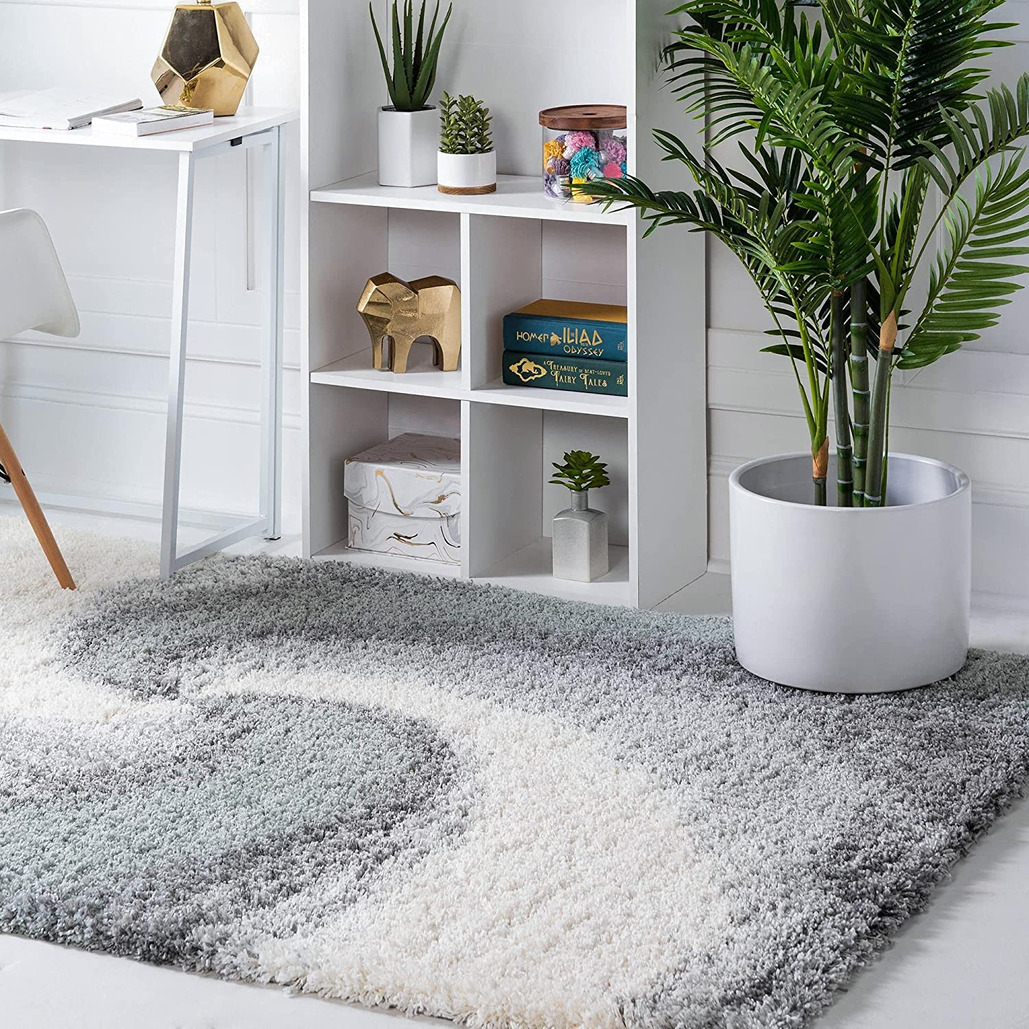 Rugs.com Soft Touch Shag Financial sales sale Collection Area – 2x3 Spasm price Sage Rug Gre