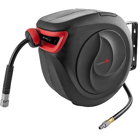 Poppstar carrete para manguera de aire manguera: 10m + 1m, di/ámetro interno de 5//16 8x12mm herramienta retr/áctil de enrollado autom/ático para manguera de aire , 3//8NPT//BSPT