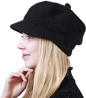 کلاه گره زنانه گرمی Slouchy گرمی زمستانی Muryobao به همراه Visor