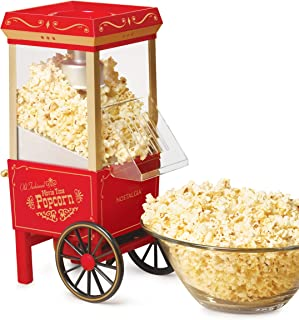 Nostalgia OFP-501 Old Fashioned Popcorn Machine, 1040 W, 120 V, 12 Cup, Red
