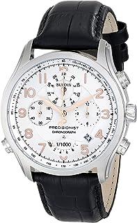 Bulova - 96B182 - Reloj de Cuarzo para Hombre, Correa de Cuero Color Plateado