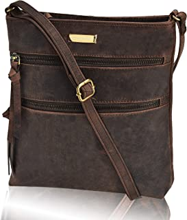 55965318e1f312 Leather Crossbody Purse for Women- Small Crossover Cross Body Bag Long Over  the Shoulder Sling