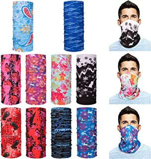 Bandana Face Mask Neck Gaiter Headband Scarf Headwrap Neck Warmer Seamless Face Scarf Mask