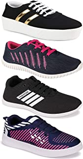 Camfoot Women's (5032-5026-1044-5047) Multicolor Casual Sports Running Shoes (Set of 4 Pair)