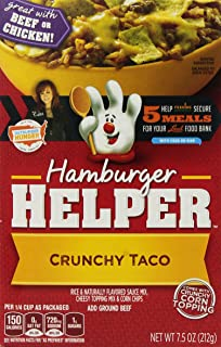 Betty Crocker, Hamburger Helper, Crunchy Taco, 7.5oz Box (Pack of 6)