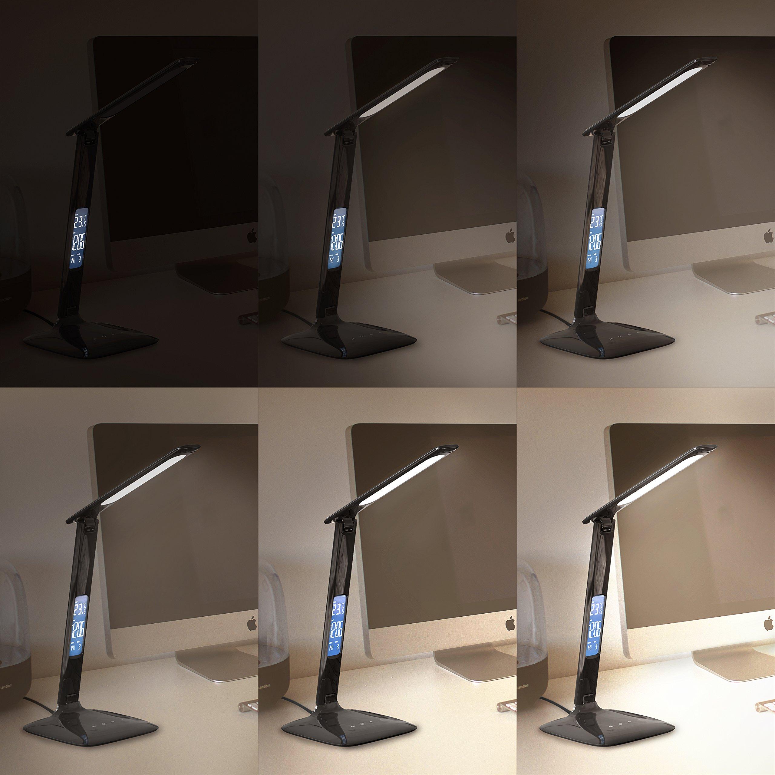 Brandson - Lámpara de Escritorio LED de Intensidad Regulable: Amazon.es: Electrónica