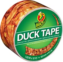 Duck, Crispy Bacon, Brand 283700 Printed Duct Tape, 1.88 Inches x 10 Yards, Single Roll