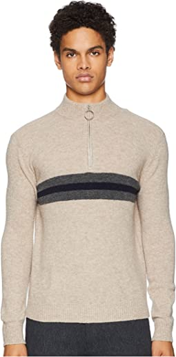 Sponge Wool 1/2 Zip Stripe Sweater