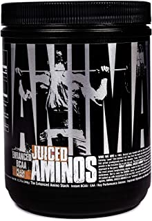 Animal Juiced Aminos - 6g Bcaa/eaa Matrix Plus 4g Amino Acid Blend for Recovery and Improved Performance, Peach Mango, 30 ...