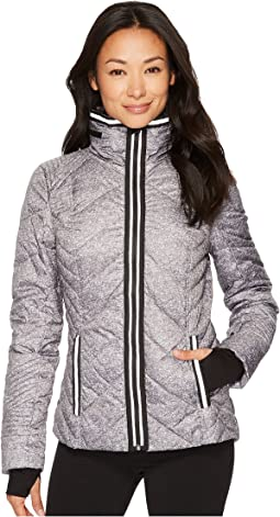Blanc Noir - Puffer Jacket with Reflective Trim - Heather