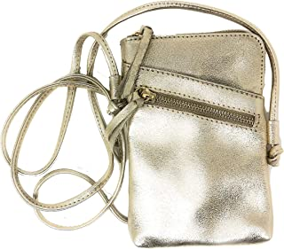 97cec6ffc MONAHAY Small Italian Leather Cross Body Mobile Phone and Passport Travel Pouch  Bag MH9723