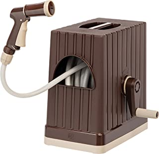 IRIS 98.42 FT Hose Reel with Nozzle, Brown 98 FT 588518