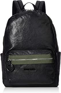 Diesel Men's ESTE Leather Backpack, black, UNI