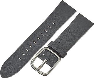 b&nd by Hadley Roma Unisex  BND200RI 200 Mode Leather 22mm Calfskin Grey Watch Strap