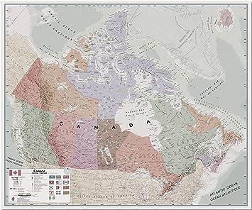 Large Wall Map Of Canada Amazon.: Maps International Large Executive Canada Wall Map