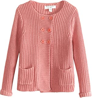 Richie House Girls' Double Row Buttons Cardigan Sweater Size 3Y-10Y RH0773