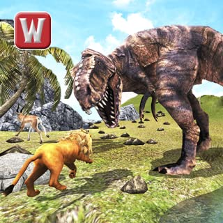 T-Rex Dino & Angry Lion Attack