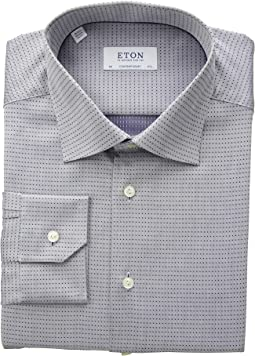Contemporary Fit Textured Sold Button Down Shirt