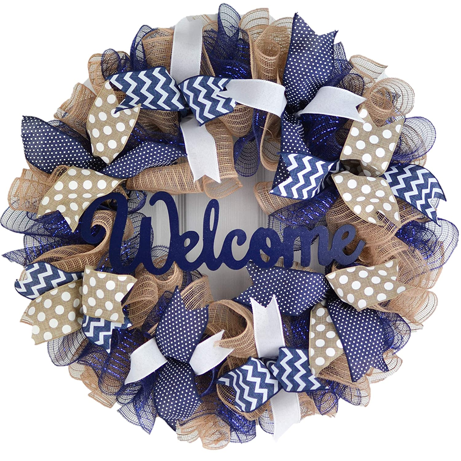 Jute Burlap Max 57% OFF Max 77% OFF Everyday Year Round Welcome Wreath Gi Day Mother's -