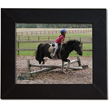 Dacasso Black Leather Photo Frame, 8 by 10-Inch