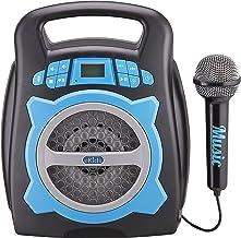 eKids Karaoke Machine for Kids – Bluetooth Speaker with Microphone and Karaoke Recorder to Save and Share Performances via...