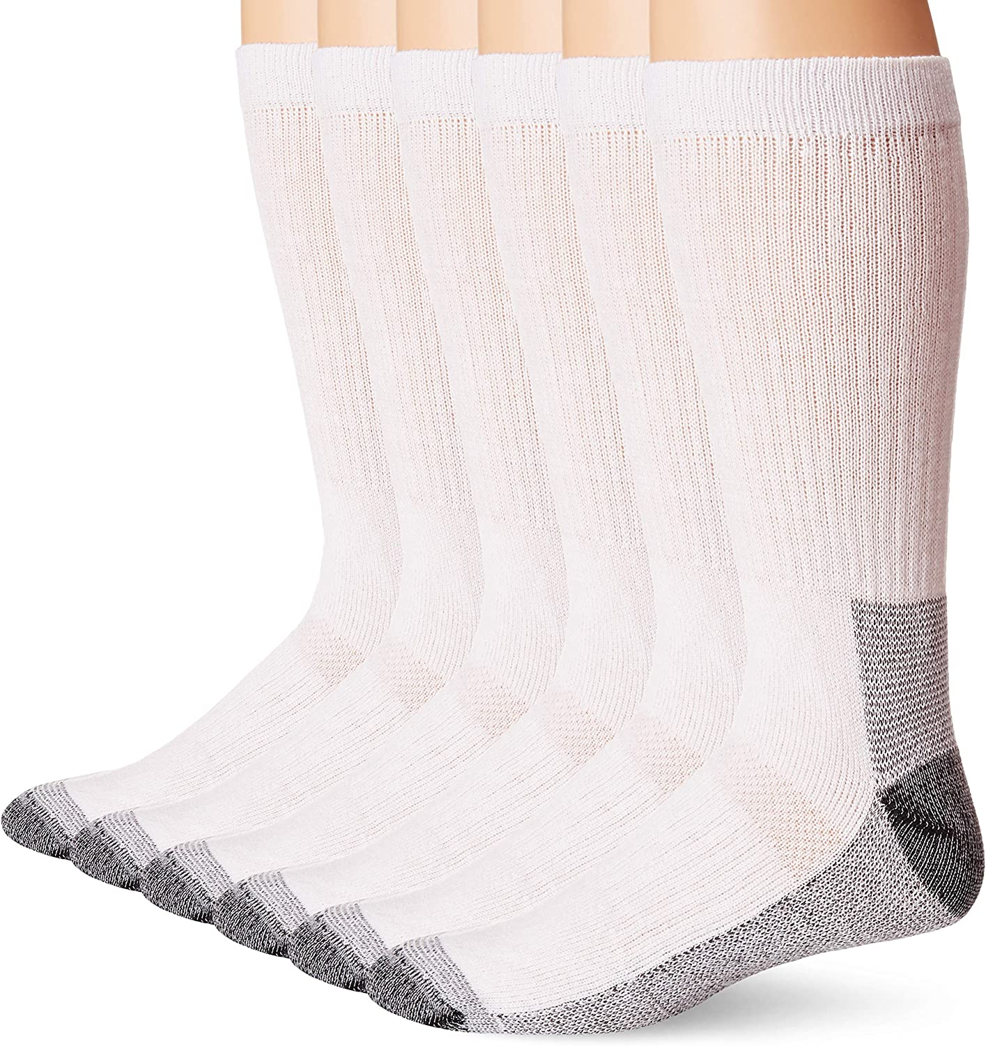 Fruit of the Loom mens Cushioned Durable Cotton Work Gear Socks With Moisture Wicking