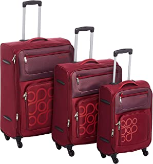 Kamiliant by American Tourister Koti Softside Spinner Luggage Set of 3, with Number Lock - Purple