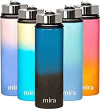 MIRA 22 Oz Stainless Steel Vacuum Insulated Wide Mouth Water Bottle - Thermos Keeps Cold for 24 hours, Hot for 12 hours - ...