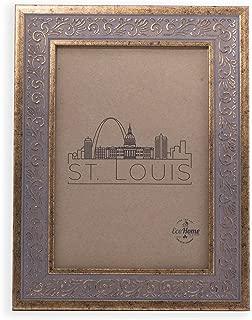 5×7 Picture Frame Ornate Antique Gold – Mount Desktop Display, Frames by EcoHome