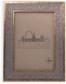 5x7 Picture Frame Ornate Antique Gold - Mount Desktop Display, Frames by EcoHome
